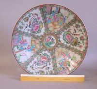 19th century Chinese Rose Medallion porcelain charger c1860