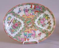 19th century Chinese export  Rose Medallion oval dish c1860