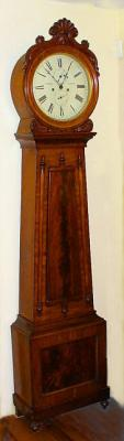 Antique Scottish Drum Head Tall Case mahogany Clock c1850
