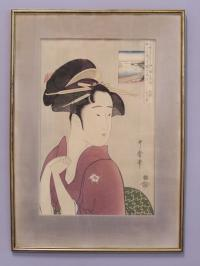 Contemporary Japanese woodblock print 20th century