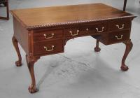 Centennial mahogany Chippendale style partners desk c1875