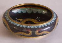 Chinese cloisonne bowl with dragon design c1880