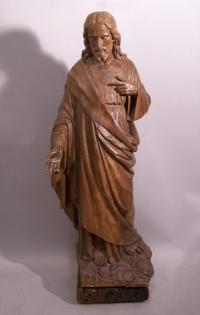 South Netherlandish Flemish  carved figure of Jesus 18th 19th c
