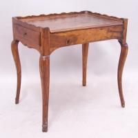 Early French provincial walnut tray top desk table c1760