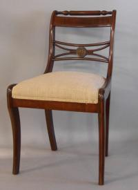 Period American Sheraton Fancy side chair with inlay c1835