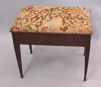 Period English mahogany chair stairs with needlepoint top c1790