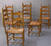 Six Wallace Nutting Maple Pilgrim Chairs 493 and 393