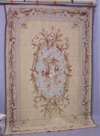 Aubusson style wool rug area rug c1920