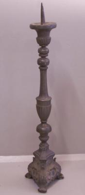 Antique Belgium pewter torchere mid 19th century