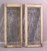 Pair of matching French divided light windows c1875