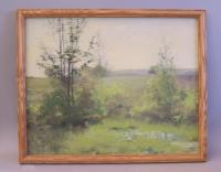 Jennie Burr New England  landscape oil painting on canvas