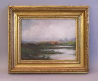 H Allison Bromley landscape oil painting on canvas c1900