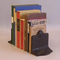 Arts and Crafts period bronzed cast iron bookends c1900