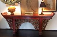 Chinese Altar table with original red paint c1800