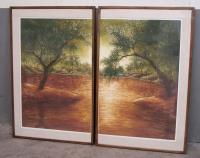 Pair limited edition landscapes prints