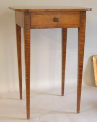 Period American one drawer Tiger Maple stand c1820