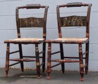 Pair of antique Hitchcock chairs
