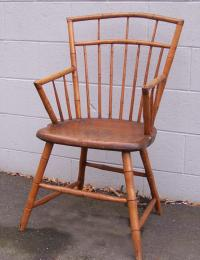 American country bamboo Windsor arm chair c1800