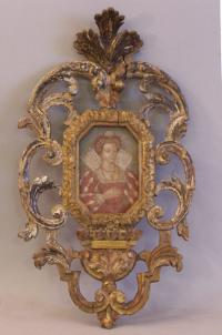 Renaissance Italian portrait of lady in giltwood frame