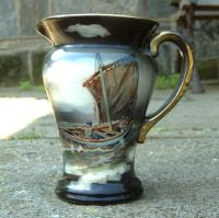 Royal Bayreuth pitcher sail boat scene