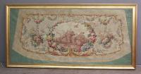 19th century French decorative floral painting on canvas