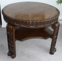 Early Mexican style walnut table c1900