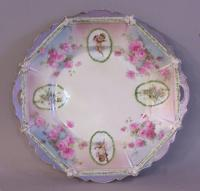 R S Prussia porcelain plate c1870 to 1914