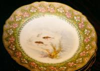 Antique French Limoges porcelain fish service