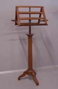 French mahogany two sided adjustable music stand c1830 to 1860