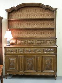 Hand made French solid walnut buffet from Brittany c1900