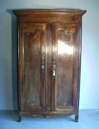 French Loire valley cherry double door armoire c 1760