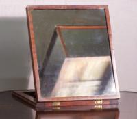 Antique gentlemans adjustable shaving Mirror c1840