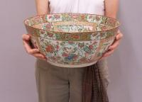 Very large Famille Rose Chinese export porcelain  bowl c1850