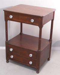 19th c. bedside table c1825 to 1840 with 3 drawers