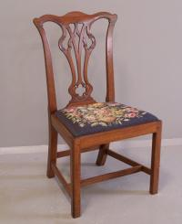 Period American mahogany Chippendale side chair c1780