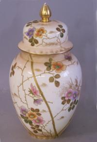 Royal Bonn covered porcelain ginger jar c1900