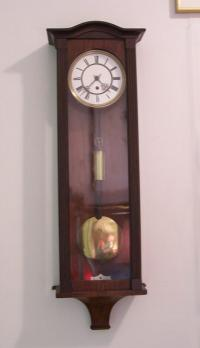 One weight Vienna regulator wall clock c1875
