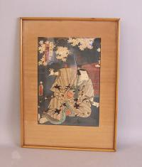 Japanese 19thc wood block print