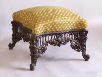 French cast iron upholstered ottoman c1875