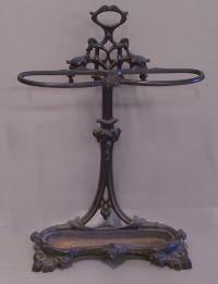 Victorian cast iron umbrella stand c1880