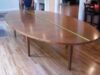 Large contemporary walnut conference table c1980