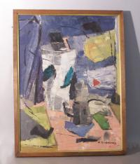 Francis Gershwin Gowdowski abstract oil painting on canvas