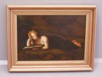 Mary Magdalene oil painting after Correggio, c1800 to 1830