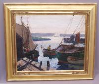 Anthony Thieme painting Morning Light Gloucester c1920