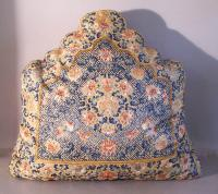 19th century Chinese silk embroidered pillow