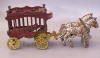 Kenton overland stage coach castiron toy with horses