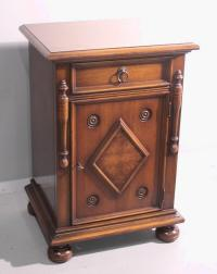 Turn of the century walnut cigar humidor