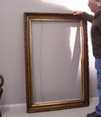 Large Thomas Hopper Victorian walnut picture or mirror frame