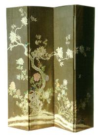Antique Japanese room screen from the Meiji period