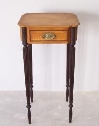 Wallace Nutting Sheraton tiger maple night stand